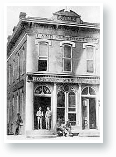 Historic photo of old nodaway valley bank